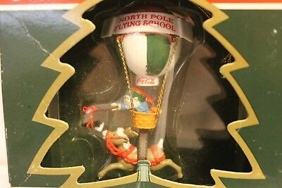 "Coca-Cola Bottling Works Collection ""North Pole Flying School"" Ornament 1995"