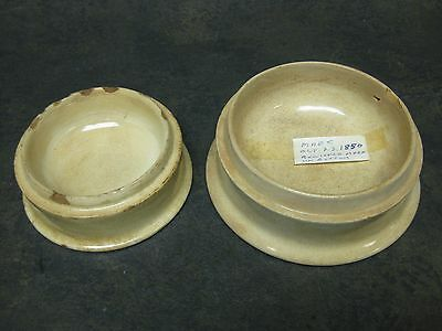 Antique Crosse & Blackwell Paste Pots Stoneware Pots Lot OF 2 Signed