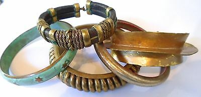 Consignment LOT of 5 VINTAGE CUFF / BANGLE BRACELETS