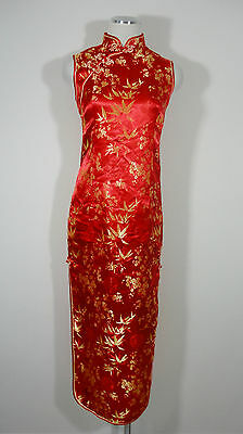 Cheong-sam CUSTOM Costume Red & Gold Dress sz Medium