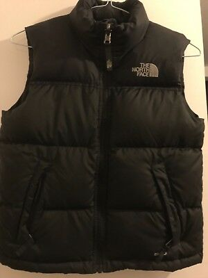 Boys black The north face body warmer/gilet 550 age  7/8