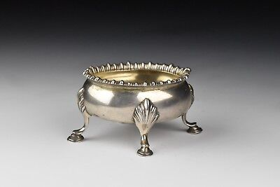 John Hutton New York 18th Century American Silver Salt Cellar