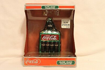 "Coca-Cola Blown Glass Collection Ornament 4.25"" New in Box"