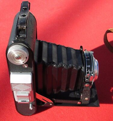 Rolfix Jr.  Folding Camera with leather case