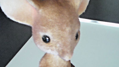Very Sweet 1950's-60's Large Flocked Mouse Figure