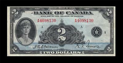 1935 Bank Of Canada 2 Dollars $2 **queen Mary** (( Ef ))