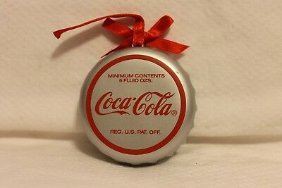 "Coca-Cola Trim-A-Tree Collection Bottle Cap 1995 Christmas Ornament 3"" NIB"