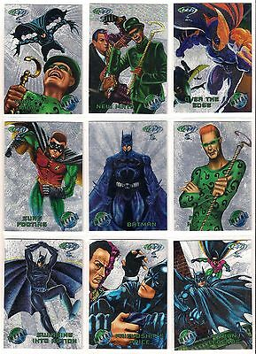 1995 Fleer DC Batman Forever METAL SILVER FLASHER PARALLEL Complete Set (100)