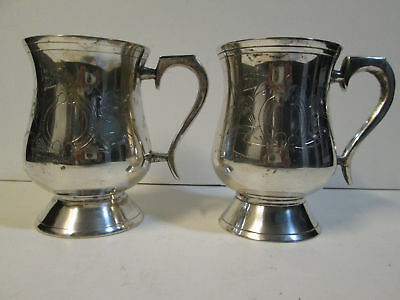 ANTIQUE 1800's SILVERPLATED CUPS