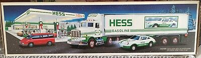 1992 Hess Truck with Racer.  New in box.