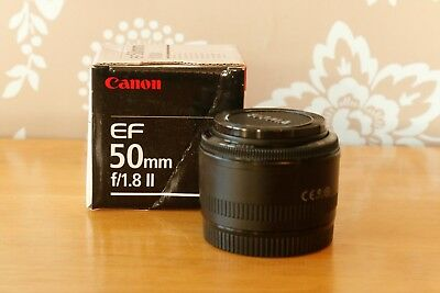 Canon EF 50mm F/1.8 II Lens Excellent condition - see listing