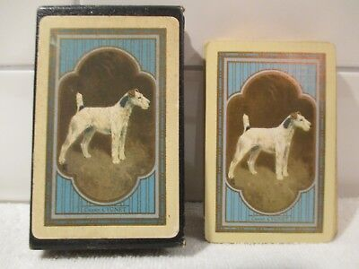 Cygnet Champion Wire Fox Terrier Dog Advertising Deck Congress Playing Cards