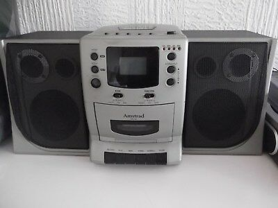 AMSTRAD MC108 Mini Stereo System CD Player, Radio and Cassette Player