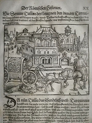 Livius History of Rome Post Incunable Woodcut Schoeffer (20) - 1530