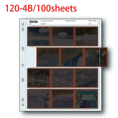 Archival Storage Holder Print File 120-4B 100 Shts for 120 Film Photo Pages
