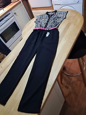 BNWT NEW River Island Girls Patterned Playsuit All In One Jumpsuit Age 9 Years 8