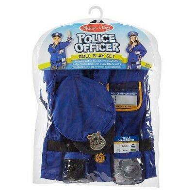 BNWT Melissa and Doug - Police Officer deluxe Role Play Costume for ages 3 - 6