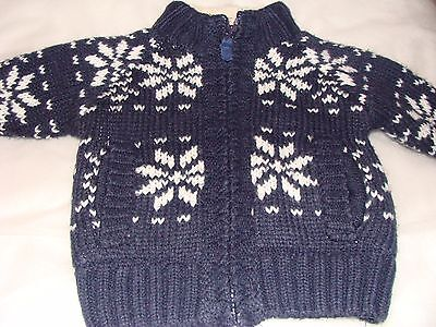 baby boys thick padded cardigan age 3-6months from next