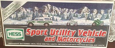 2004 Hess Sport Utility Vehicle and Motorcycles;  New in box.