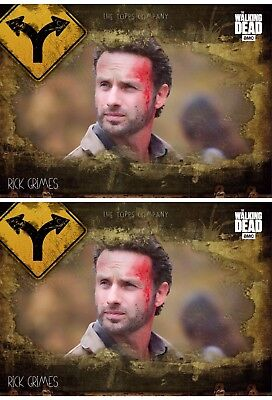 2x TURNING POINTS MARATHON WAVE 3 RICK GRIMES Walking Dead Card Trader Digital