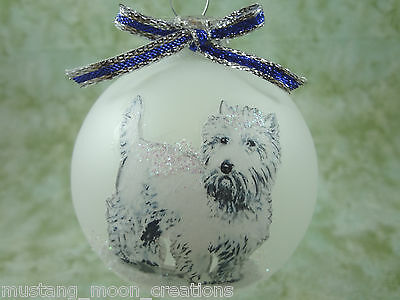 D017 Hand-made Christmas Ornament- West Highland White Terrier Westie - standing