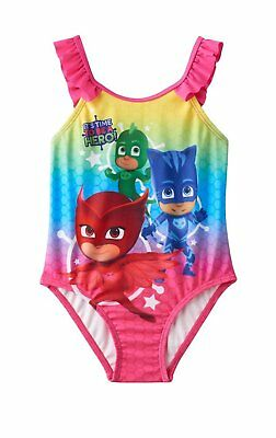 PJ Mask Toddler Girl's One Piece UPF 50 Swimsuit NWT Size 2T Multi-Color MSRP 26