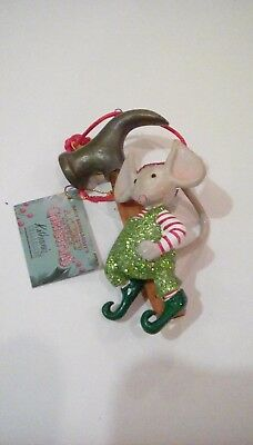 Mary Engelbreit Christmas Ornament Mouse With Hammer