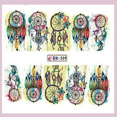 ❤️nouveau Stickers Dream Catcher Bijoux Ongles Water Decals Nail Art