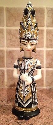 """Hand Carved """"two-faced"""" Indonesian Decorative Wooden Rama"""