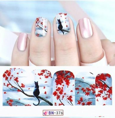 ❤️nouveau Stickers Nostalgie Bijoux Ongles Water Decals Nail Art