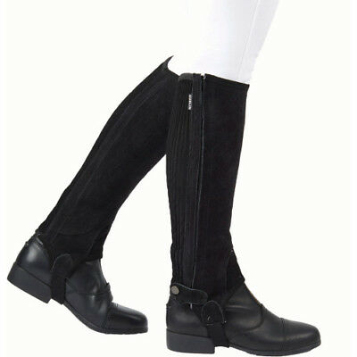 Dublin Adults Suede Half Unisex Footwear Chaps - Black All Sizes