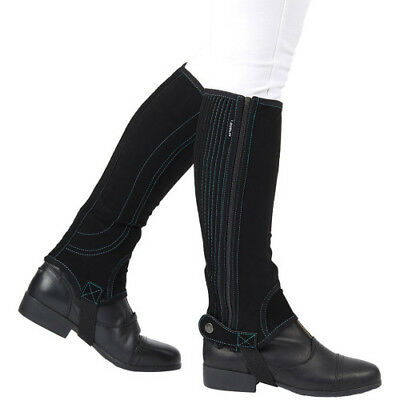 Dublin Adults Easy-care Half Unisex Footwear Chaps - Black Teal All Sizes