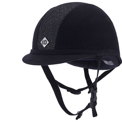 Charles Owen Sparkly Yr8 Kids Safety Wear Riding Hat - Navy And All Sizes