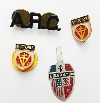 Lot 4 pins decoration militaires.(AV016)