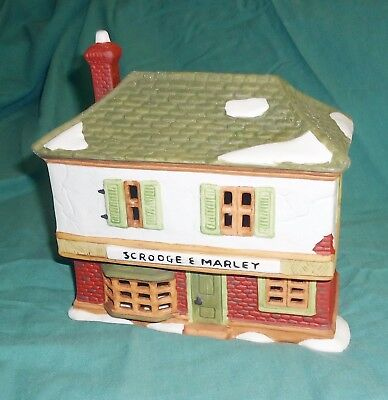 Dept 56 Dickens Village Series 1985 Scrooge and Marley's Counting House 6500-5