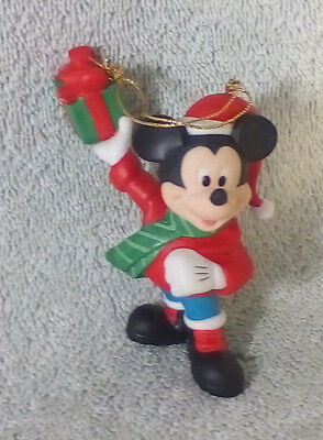 Grolier Mickey Mouse Disney Ornament Porcelain Treasures Christmas with Gift