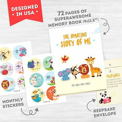 Colorful Baby Memory Book The Amazing Story Of Me 72 Pages Keepsake Photo Album