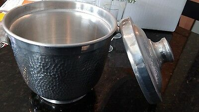 Vintage Alpine hammered ice bucket from Italy
