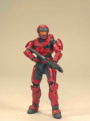 Halo Reach Series 2 Figurine - Spartan CQC Custom male Team Red 6 inches high