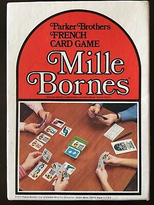 Vintage 1971 Parker Brothers Mille Bornes French Card Game Great Condition