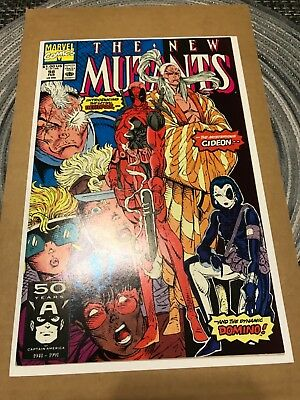 Marvel Comics New Mutants 98 First Appearance Deadpool and Domino
