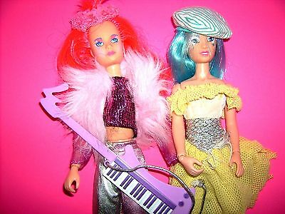 Jem & the Holograms AJA & KIMBER doll figure outfit 1980's Hasbro