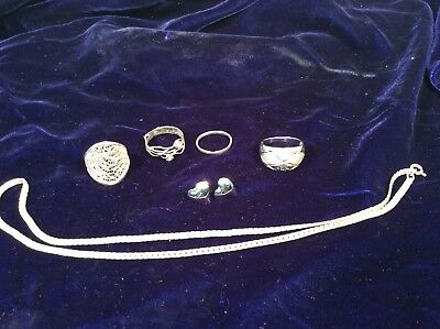 lot of mixed sterling silver jewelry
