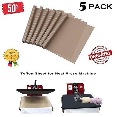 Teflon Sheet For 16 x 20 Heat Press Transfer Sheet Non Stick Reusable Mat 3 Pack
