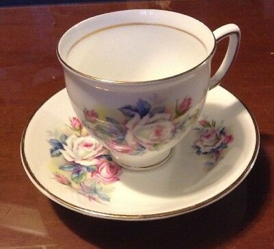 Duchess Bone China Made In England Cup And Saucer Floral Pattern