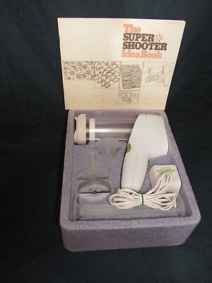Vintage Wear-Ever SUPER SHOOTER Electric Cookie Press Canape Candy Maker