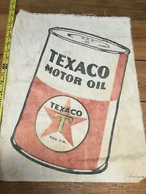 Vintage Texaco cloth advertising sign from the 30s or 40s
