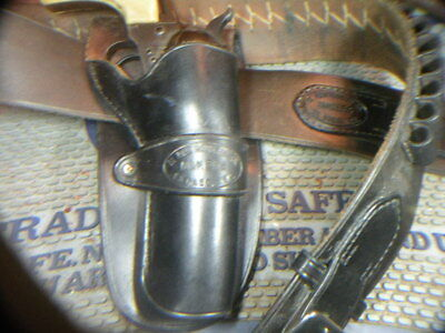 El Paso Saddlery,Tx marked western holster and cartridge belt,46 in. , 44/45 cal