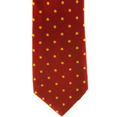 Showquest Woven Medium Spot Unisex Accessory Tie - Red/gold C) All Sizes