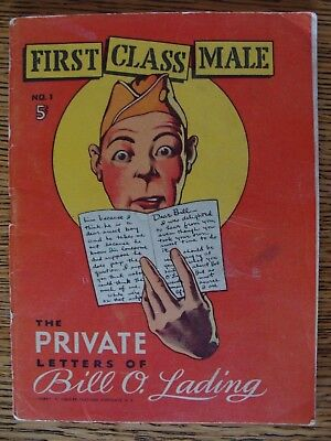 """Original 1930's-40's Military Comic Book """"first Class Male"""" First Issue"""